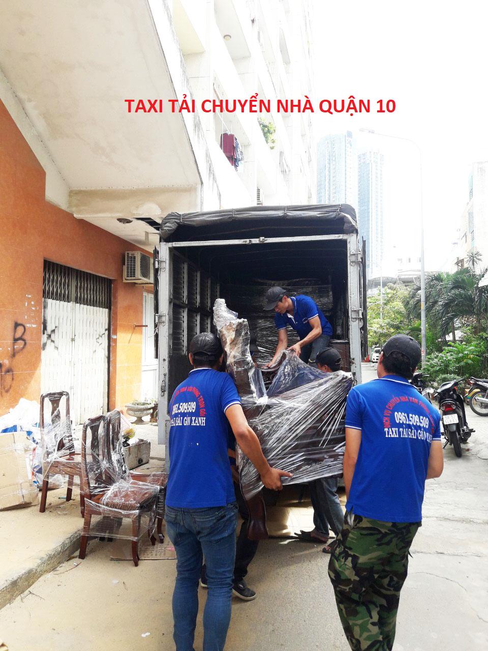 taxi tải chuyển nhà quận 10