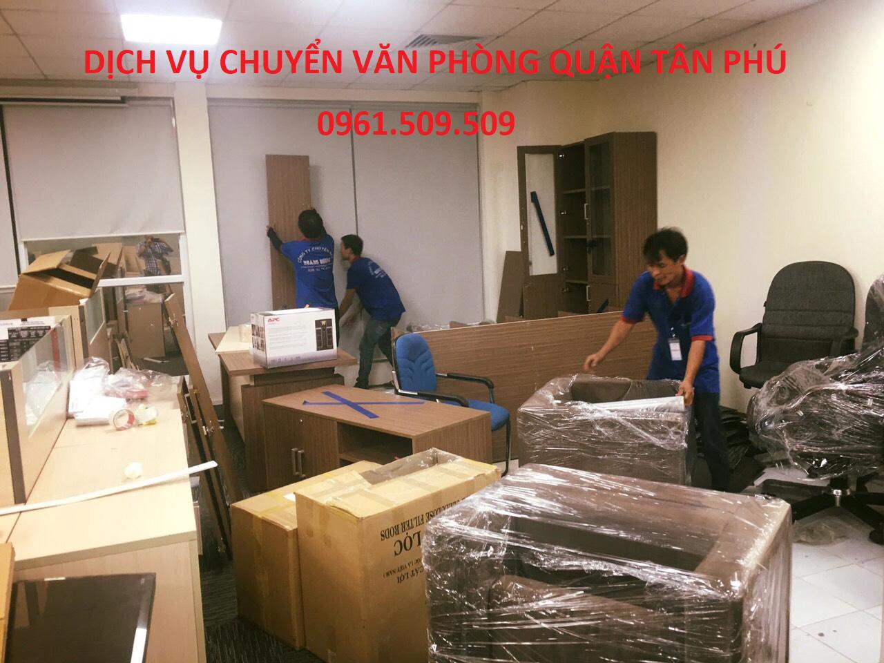 Dịch vụ chuyển văn phòng quận Tân Phú -